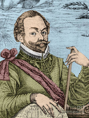 Sir Francis Drake, English Explorer Art Print by Photo Researchers, Inc.