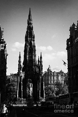 Sir Walter Scott Monument Princes Street Edinburgh Scotland Uk United Kingdom Art Print by Joe Fox