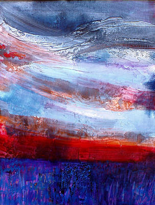 Sunset Sky Art Print by Walter Fahmy