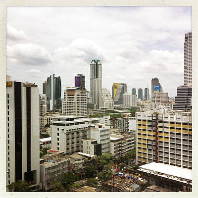 Skyline Of Bangkok Print by Ixefra