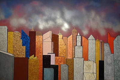 Painting - Skyscrapers by Robert Handler
