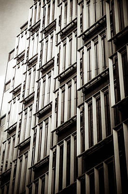Slatted Window Architecture Art Print by Lenny Carter