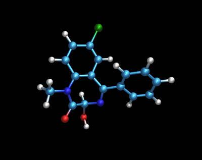Sleeping Pill Molecule Art Print by Dr Tim Evans