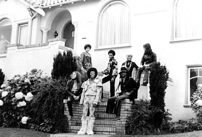 Sly And The Family Stone, C. 1970 Print by Everett