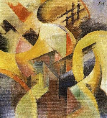 Small Abstract Painting - Small Composition I by Franz Marc