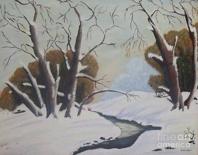 Painting - Snow by Debra Piro