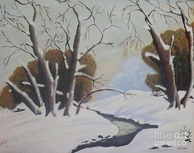 Snow Art Print by Debra Piro