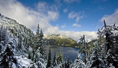 Snow Lake Vista Art Print