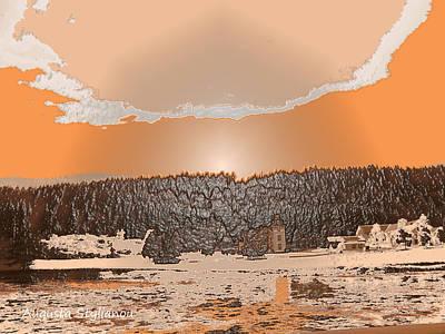 Digital Art - Snowy  Landscape by Augusta Stylianou