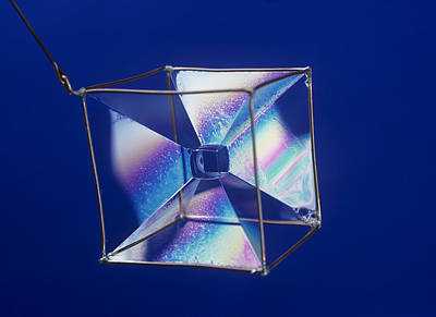 Coat Hanger Photograph - Soap Films On A Cube by Andrew Lambert Photography