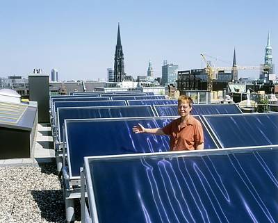 Solar Heat Collectors, Germany Art Print by Martin Bond