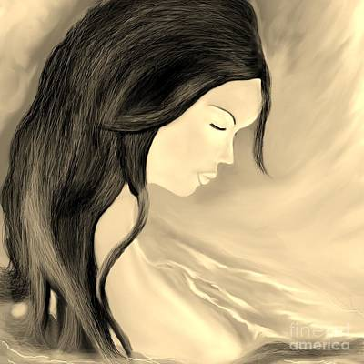 Art Print featuring the drawing Solitude  by Lori  Lovetere
