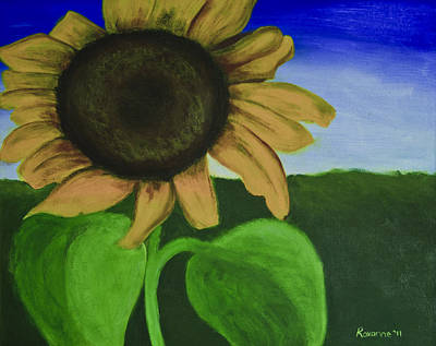 Solo Sunflower Art Print by Roxanne Weber