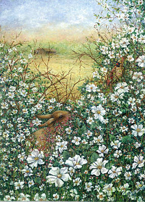 Painting - Soon There'll Be Berries by Sher Sester