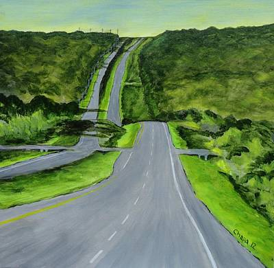 Painting - South Bound Ronald Reagan Blvd by Manny Chapa