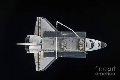Space Shuttle Atlantis Backdropped Art Print by Stocktrek Images