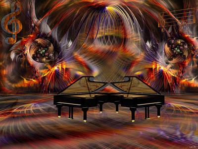 Cs5 Digital Art - Sparks Of Music by Robin Meade