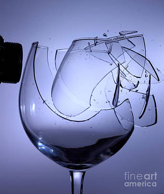 Acoustical Photograph - Speaker Breaking A Glass With Sound by Ted Kinsman