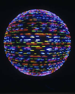 Spinning Globe Art Print by Lawrence Lawry