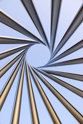 Installation Art Photograph - Spiral Metal Sculpture At Fermilab by Mark Williamson