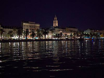 Photograph - Split Old Town By Night by Jouko Lehto