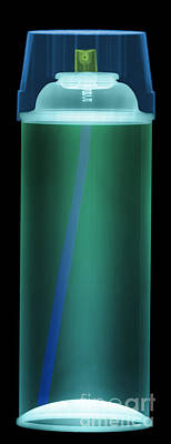 Paint Cans Photograph - Spray Paint Can X-ray by Ted Kinsman