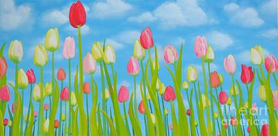 Tulip Festival Painting - Spring Festival by Holly Donohoe