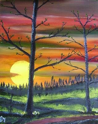 Painting - Spring Sunrise by Charles and Melisa Morrison