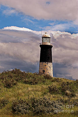 Colourfull Photograph - Spurn Point Lighthouse by David  Hollingworth