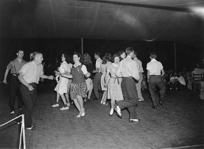 1950s Candids Photograph - Square Dance Team Dancing by Everett