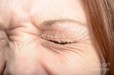 Squinting Eyes Art Print by Photo Researchers, Inc.