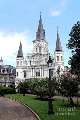 Digital Art - St Louis Cathedral Jackson Square French Quarter New Orleans Ink Outlines Digital Art  by Shawn O'Brien