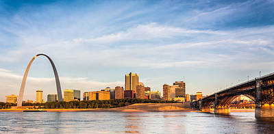 Photograph - St Louis The Arch And Eads Bridge by Semmick Photo
