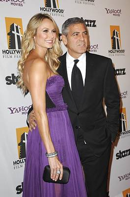 15th Annual Hollywood Film Awards Gala Ceremony Photograph - Stacy Keibler, George Clooney by Everett