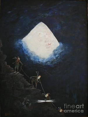 Ice Climbing Painting - Stairway To Heaven by William Bezik