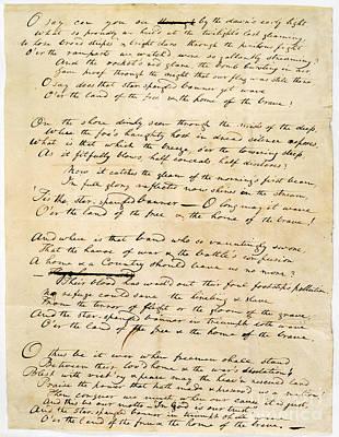 Star Spangled Banner 1814 Art Print by Granger