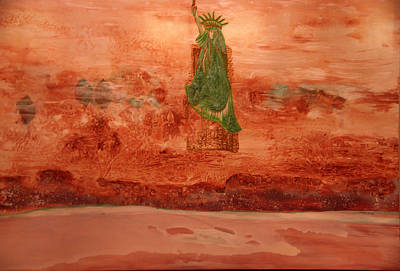 Painting - Statue Of Liberty by Sima Amid Wewetzer