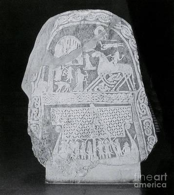 Stela Photograph - Stele Depicting Norse Mythology by Photo Researchers
