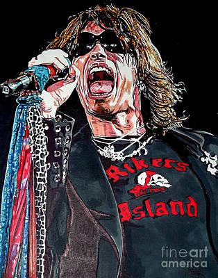 Steven Tyler Drawing - Steven Tyler by Neal Portnoy