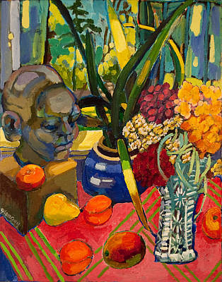 Still Life With Cut Glass Vase Art Print