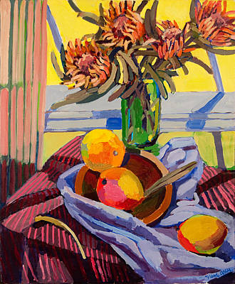 Painting - Still Life With Mangoes by Doris  Lane Grey
