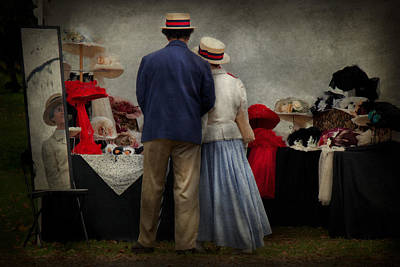 Photograph - Store - The Hat Stand  by Mike Savad
