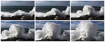Stormy Wave Sequence Art Print