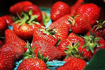Strawberries Art Print by Cathie Tyler