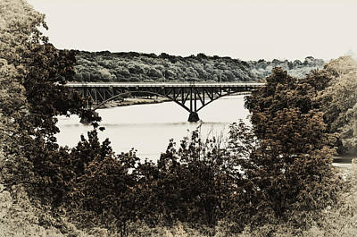 Strawberry Mansion Bridge From Laurel Hill Art Print by Bill Cannon