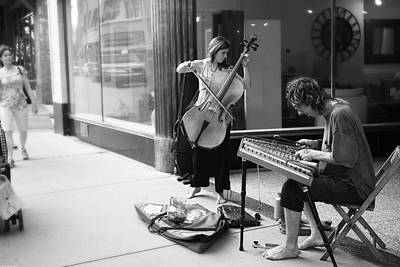 Photograph - Street Musicians  by Gray  Artus