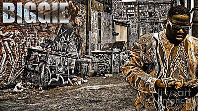 Street Phenomenon Biggie Art Print by The DigArtisT