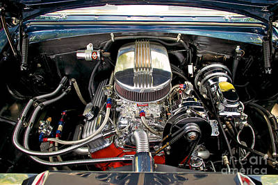 Photograph - Street Rod Engine by Mark Dodd