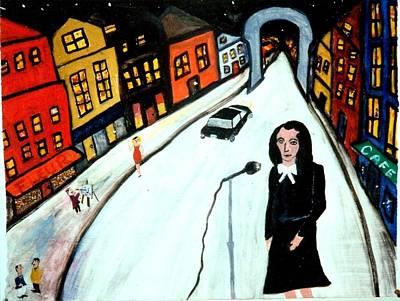 Painting - Street Singer by Eliezer Sobel