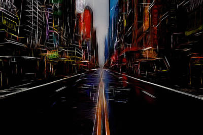Color Block Mixed Media - Streets Of New York  by Steve K